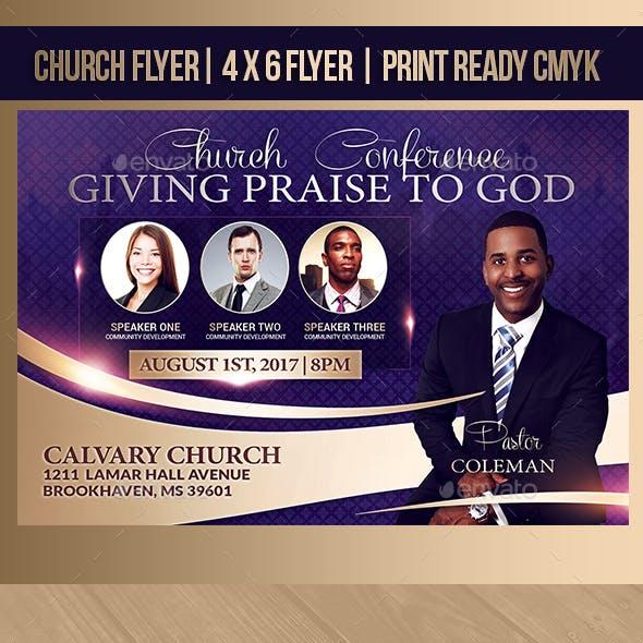 Giving Praise Church Flyer