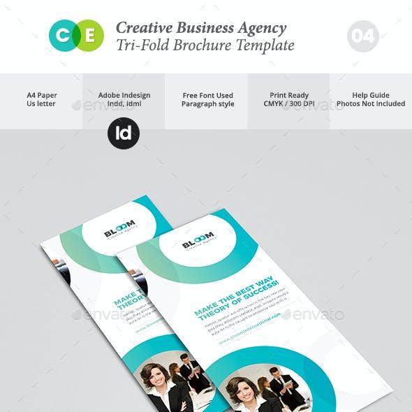 Creative Business Agency Tri-Fold Brochure V04
