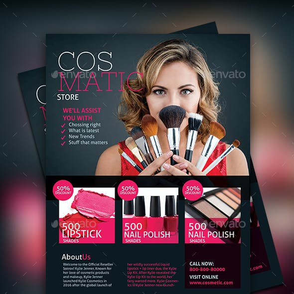 Cosmetic Store Flyer
