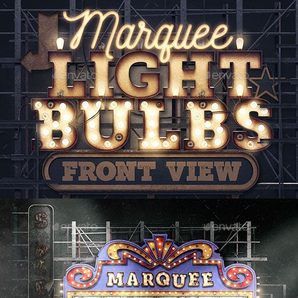 Marquee Light Bulbs Creation Kit - Front View