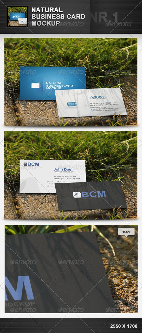 Natural Business Card Mockup 1 - Business Cards Print