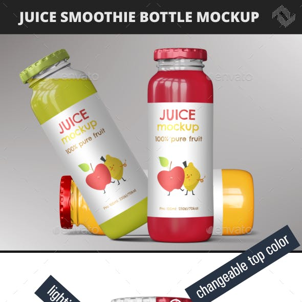 Juice Smoothie Bottle Mockup