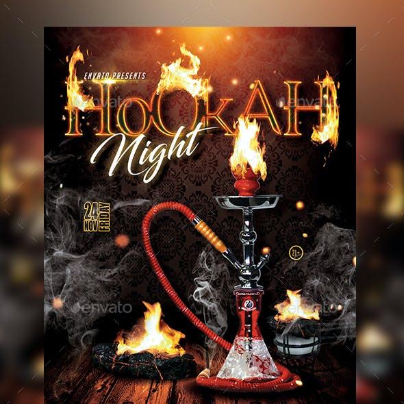 Hookah Party Flyer Template