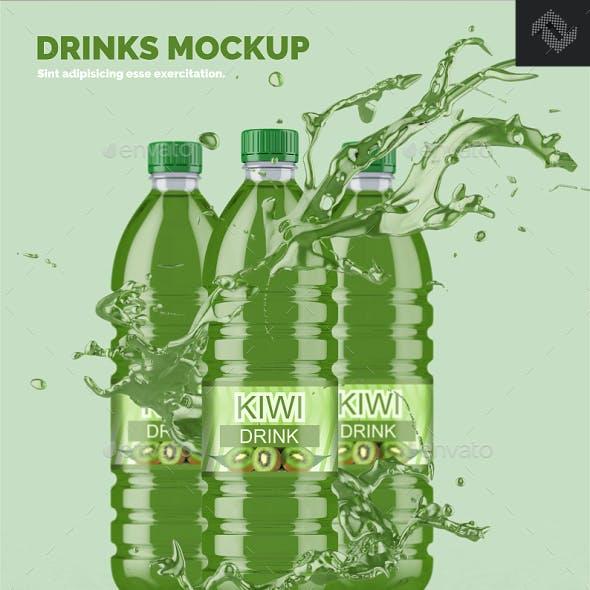 Clear Plastic Bottle Mockup Shape 7