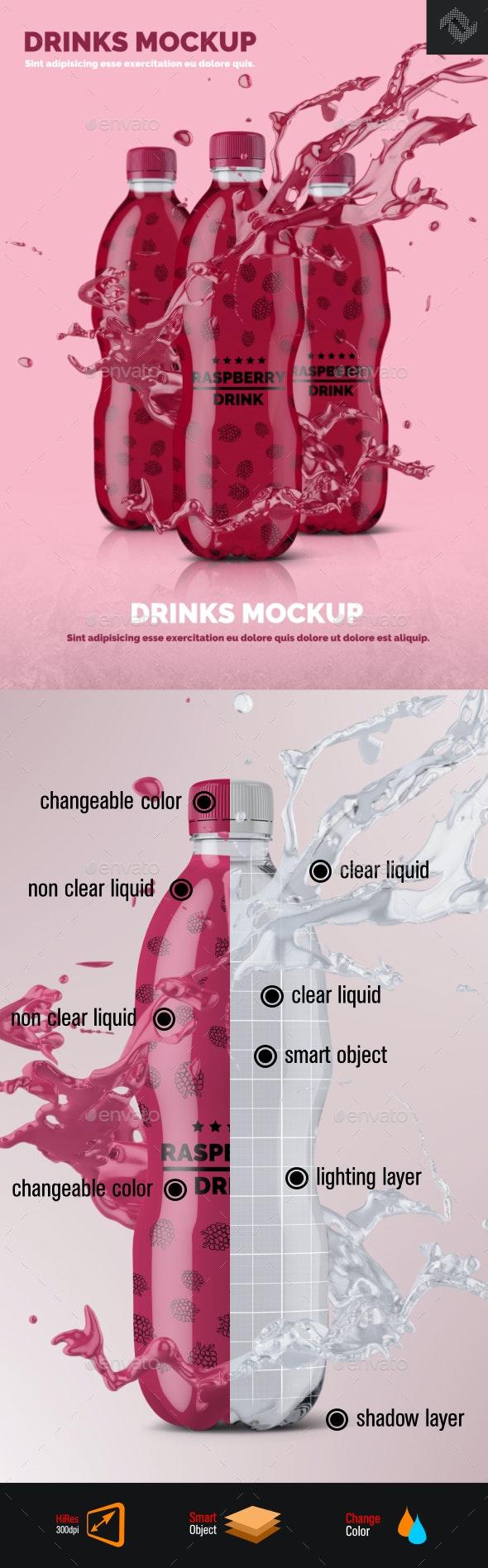 Plastic Bottle Mockup Shape 4 - Food and Drink Packaging