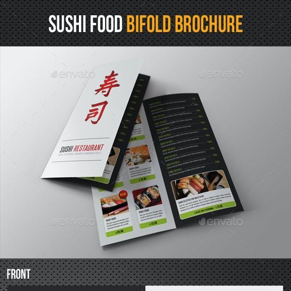 Sushi Restaurant Menu Bifold Brochure