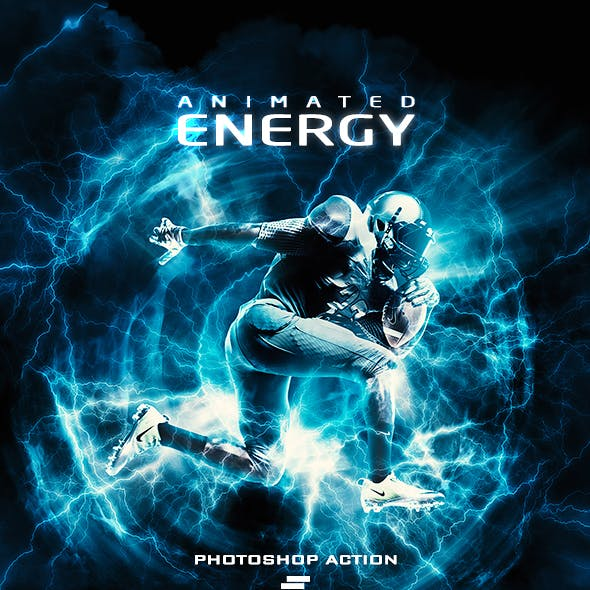 Gif Animated Energy Light Effects Photoshop Action