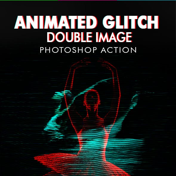 Animated Glitch Double Image