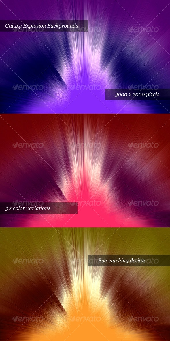 Galaxy Explosion Web Backgrounds - Tech / Futuristic Backgrounds