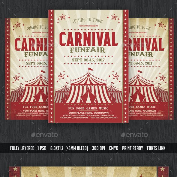 Carnival & Fun Fair Flyer Poster