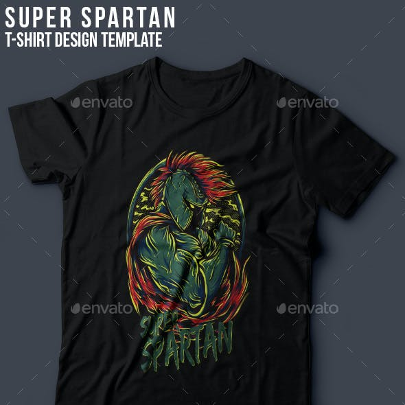 Super Spartan T-Shirt Design