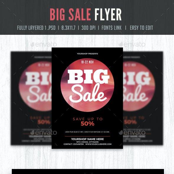 Big Sale Flyer Poster Template