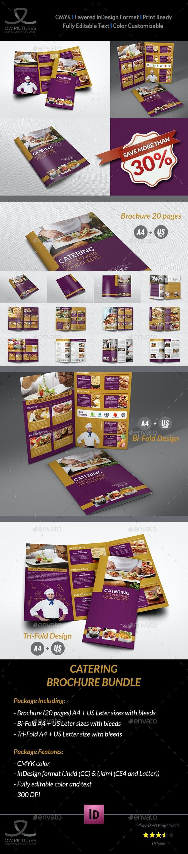 Catering Brochure Bundle Template - Brochures Print Templates