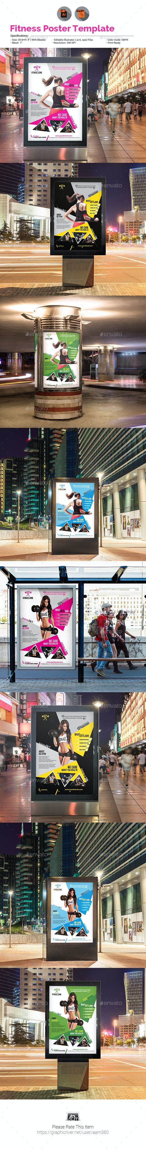 Fitness | Gym Poster - Signage Print Templates