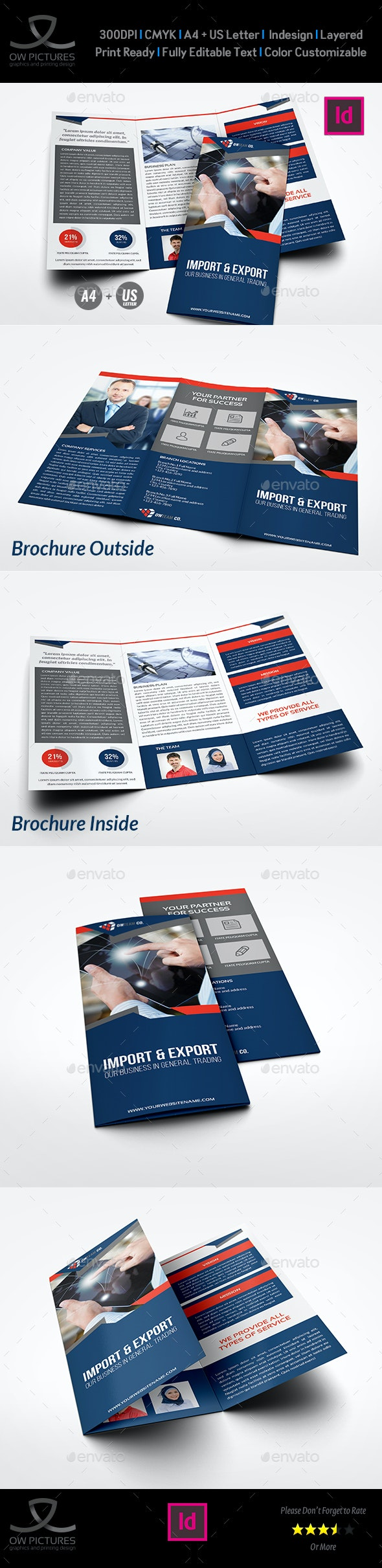Company Profile Tri-Fold Brochure Vol.24 - Corporate Brochures
