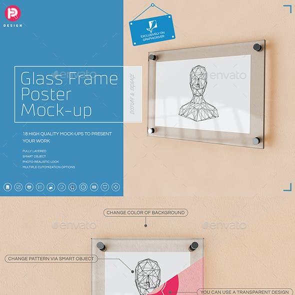 Glass Frame Poster Mock-up