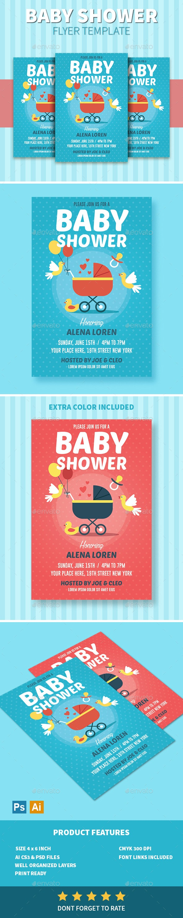 Baby Shower Flyer - Invitations Cards & Invites