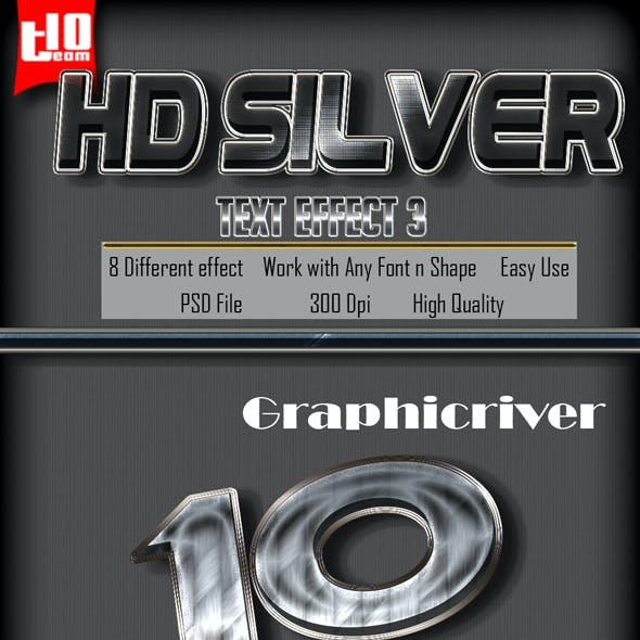 HD Silver Text Effect 3
