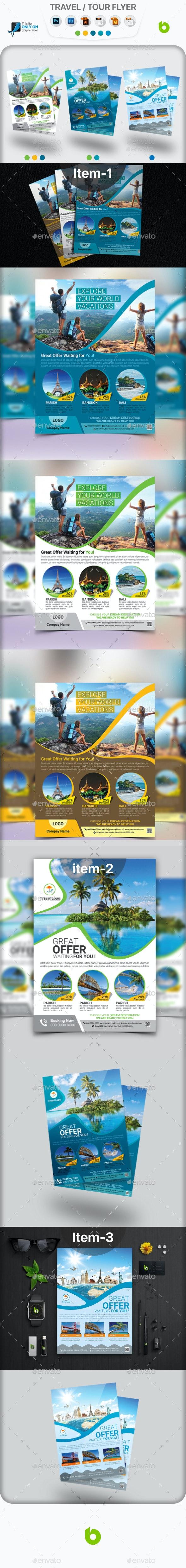 Travel / Tour Flyer Bundle - Holidays Events