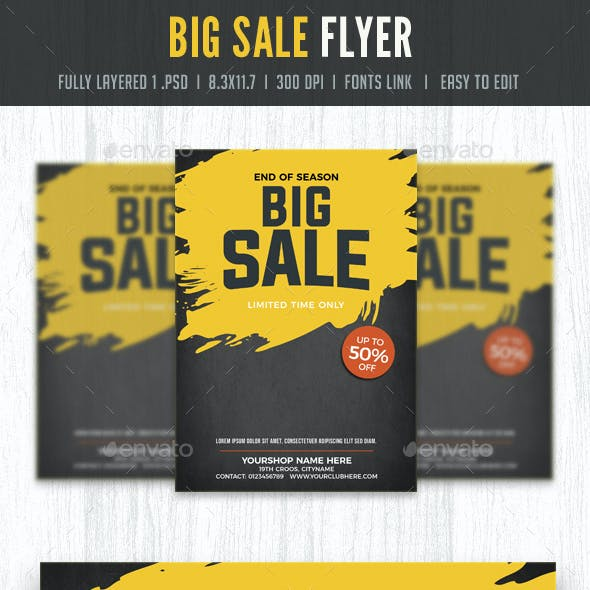 Sale Flyer Poster template