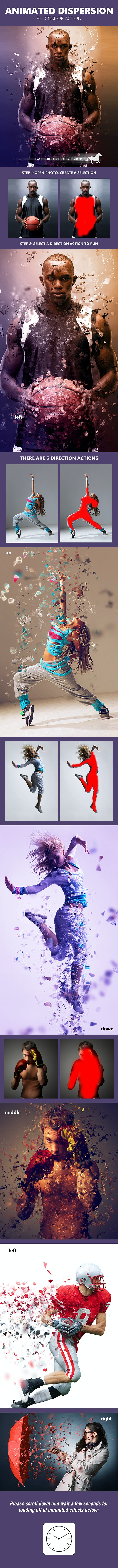 Animated Dispersion - Photo Effects Actions