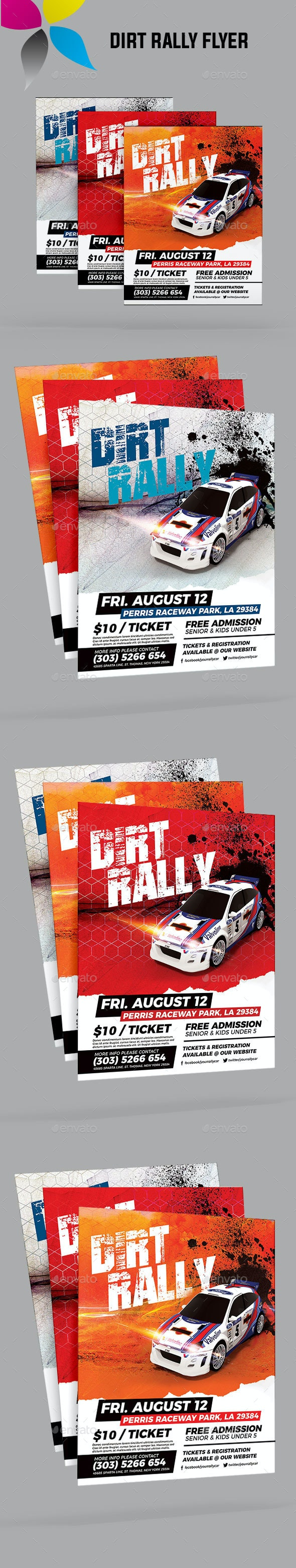 Dirt Rally Flyer - Sports Events