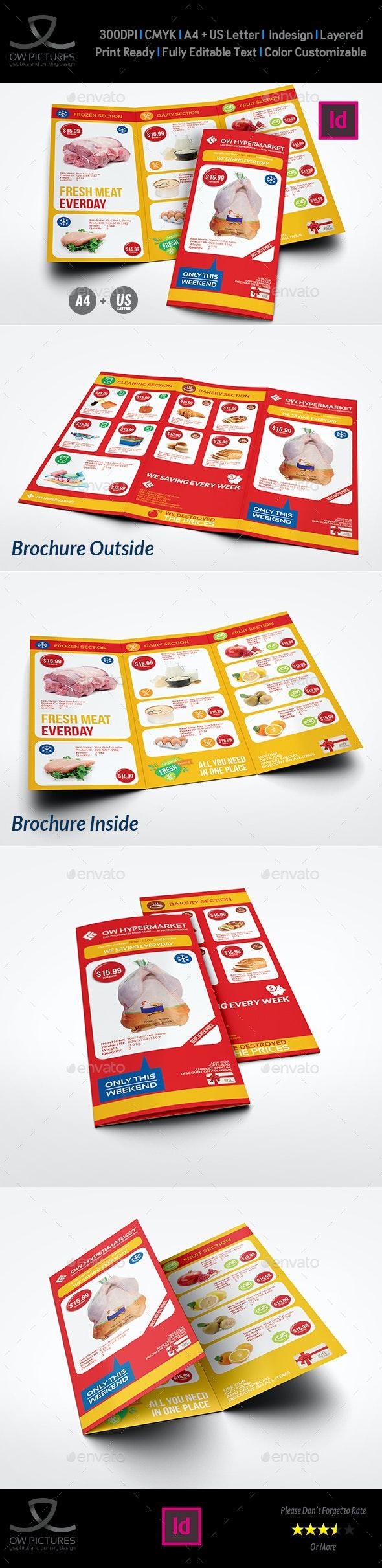 Supermarket Products Catalog Tri-Fold Brochure Vol.2 - Catalogs Brochures
