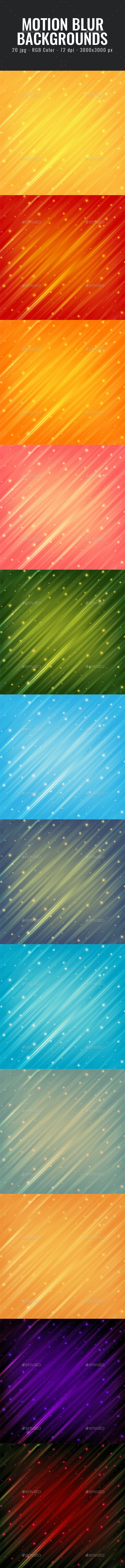 Motion Blur Backgrounds - Abstract Textures
