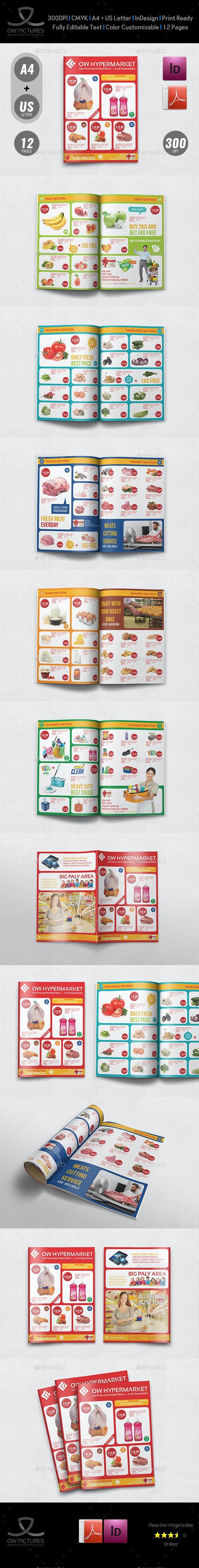 Supermarket Catalog Brochure Template Vol.4 - 12 Pages - Catalogs Brochures