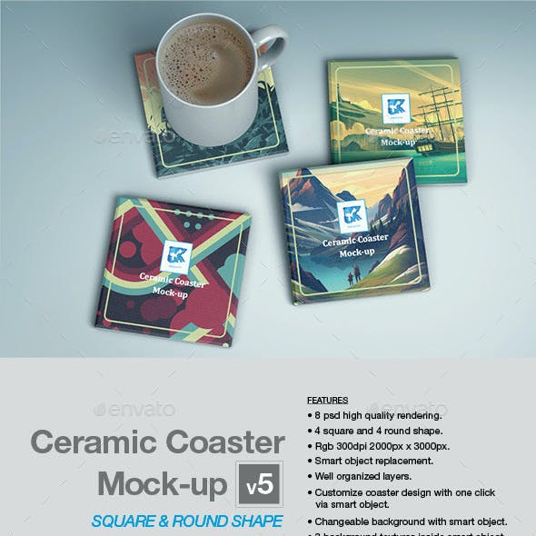 Ceramic Coaster Mock-up v5