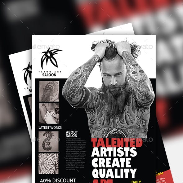 Tattoo Flyer Design