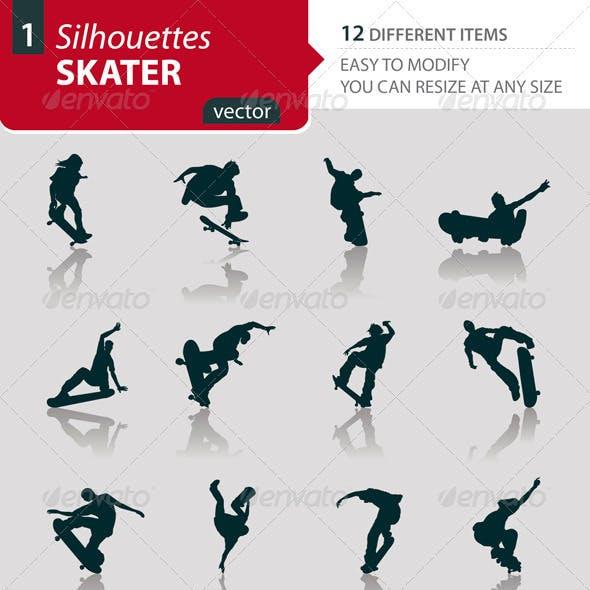 Skater silhouettes Set1
