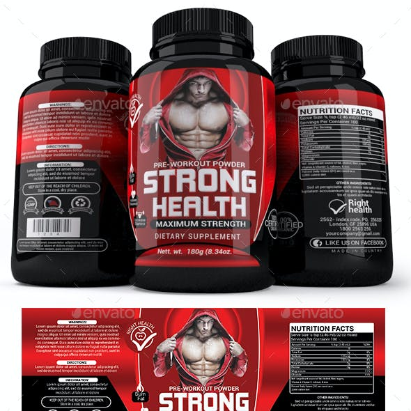 Supplement Label Template - 018