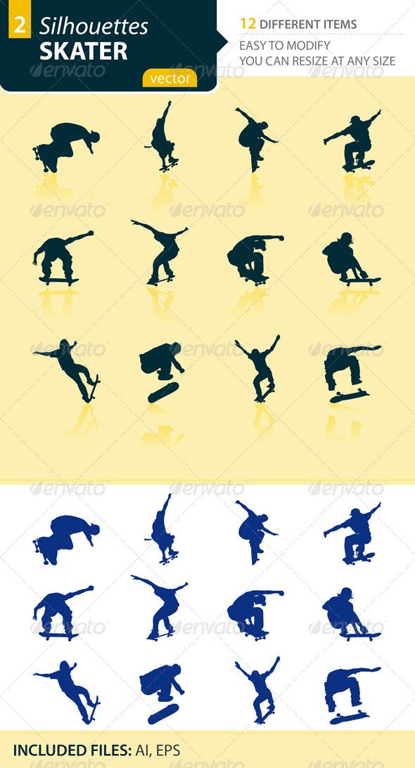 Skater silhouettes Set2
