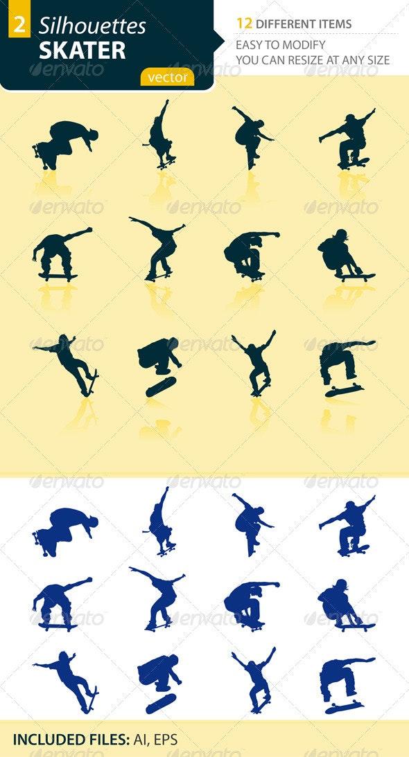 Skater silhouettes Set2 - Sports/Activity Conceptual