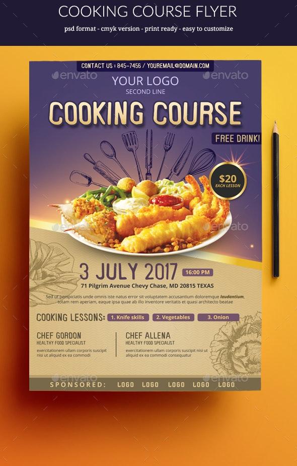 Cooking Course flyer - Miscellaneous Events