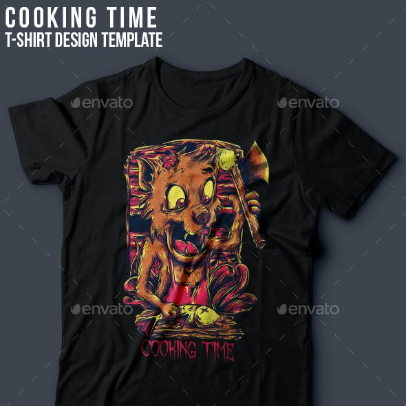 Cooking Time T-Shirt Design