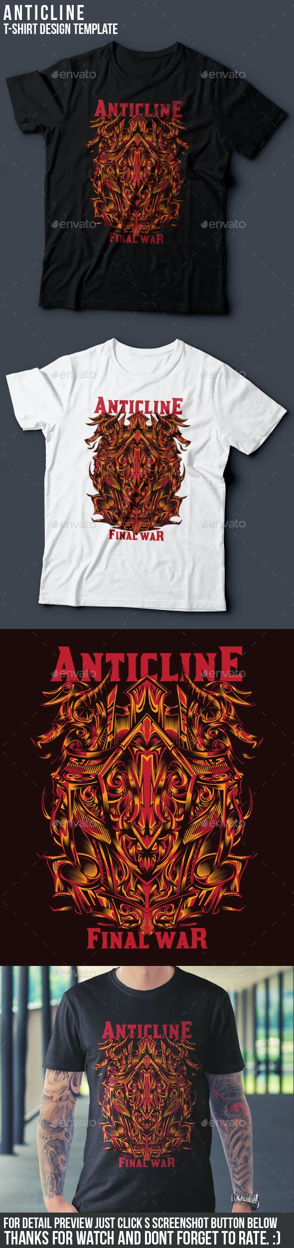 Anticline T-Shirt Design Template