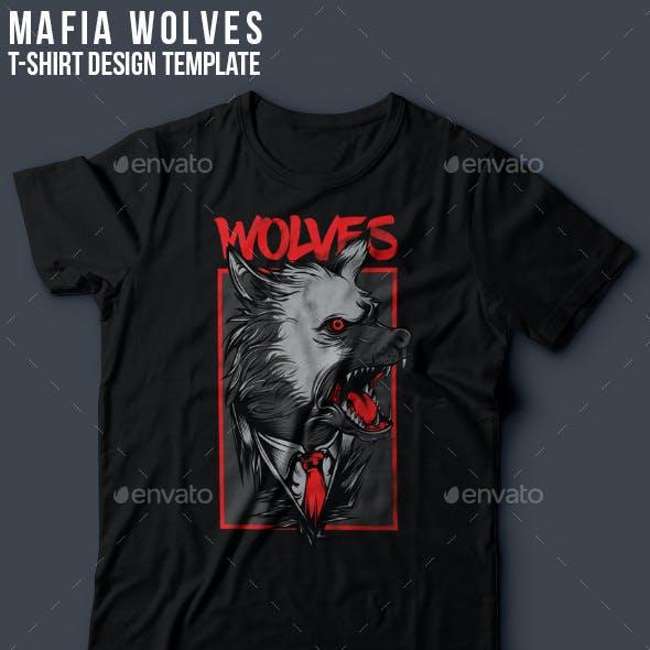 Mafia Wolves T-Shirt Design