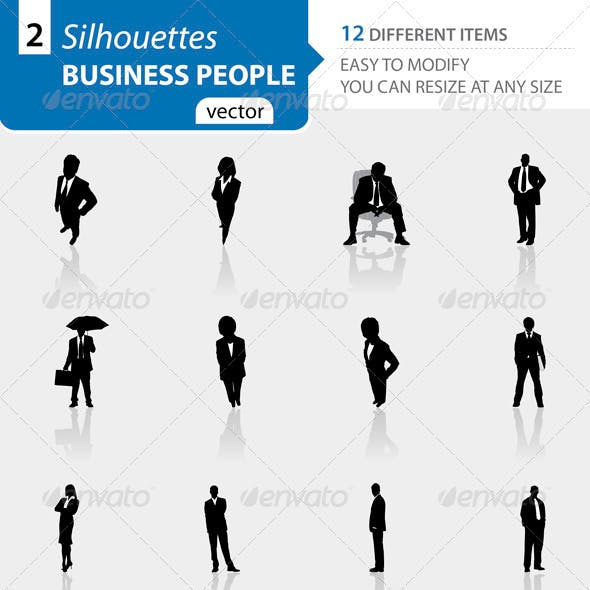 Business people silhouettes Set2
