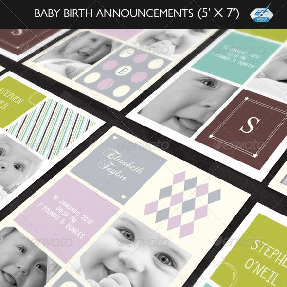 Baby Birth Announcement Boy & Girl