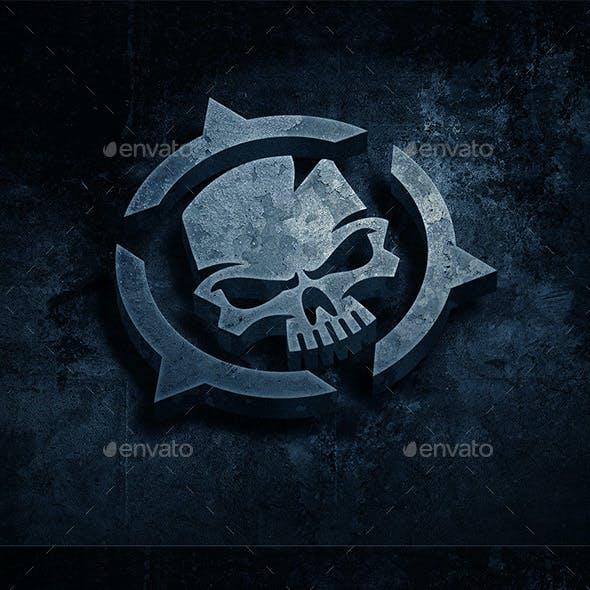 Grunge Metal Logo Mockup