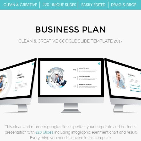 Business Plan Google Slide Template 2017
