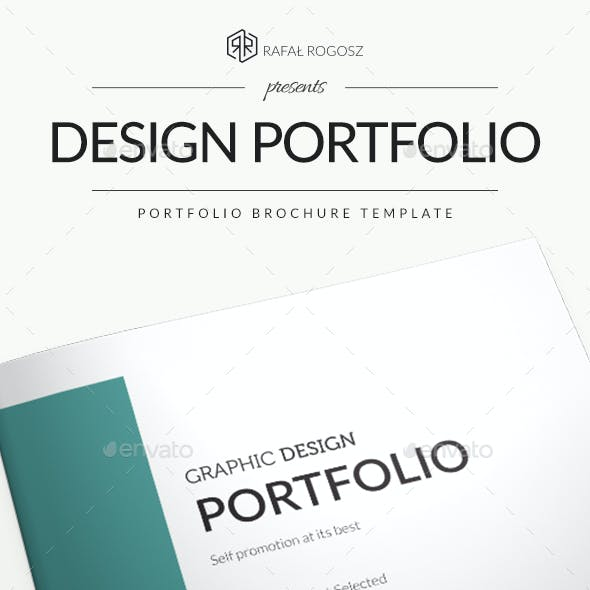 Graphic Design Portfolio Brocure A4