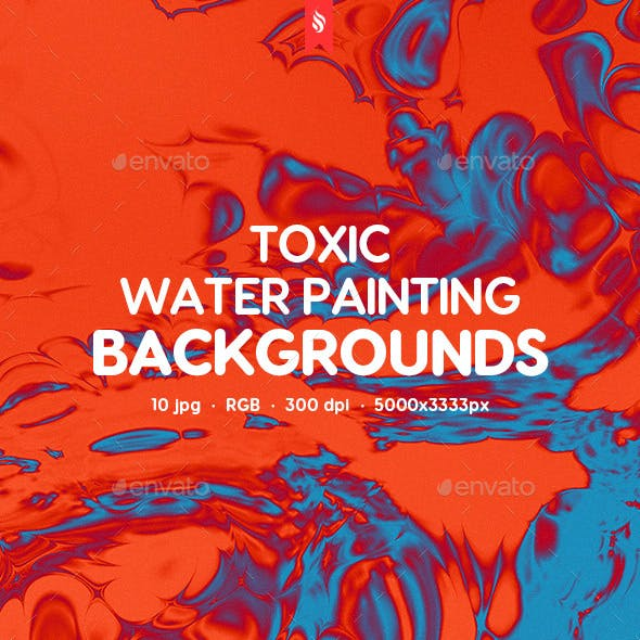 Toxic Water Painting Backgrounds