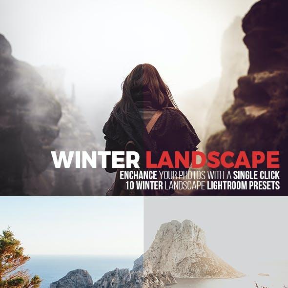 10 Winter Landscape Lightroom Presets