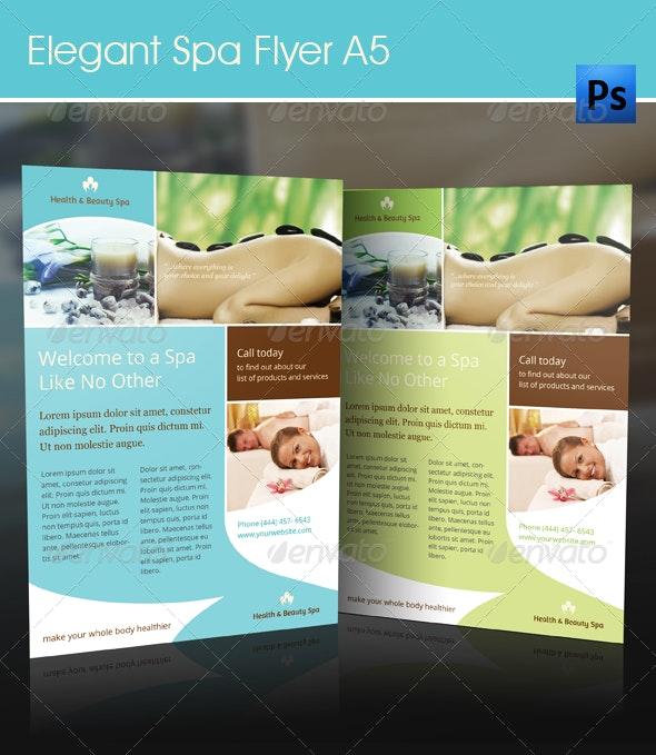 Elegant Spa Flyer - A5 - Flyers Print Templates