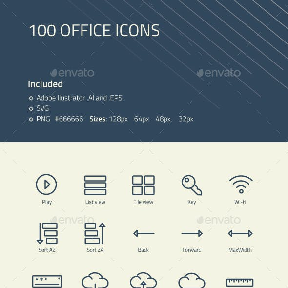 Modern Office Icons