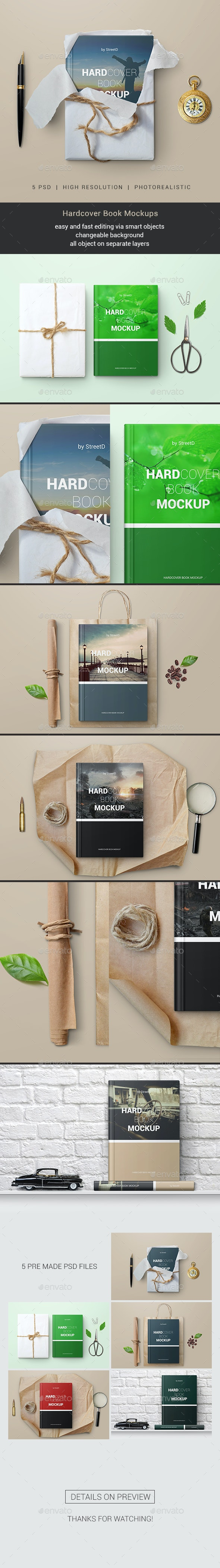 Hardcover Book Mockups - Books Print