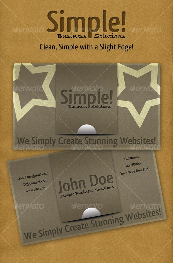 Simple Solutions Business Card - Grunge Business Cards